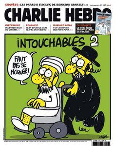 Capa da edição de setembro de 2012 da revista francesa Charlie Hebdo