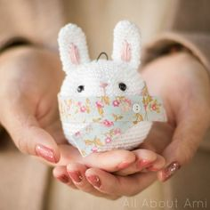 Eeeeps! A Bunny Ornament tutorial by All About Ami.
