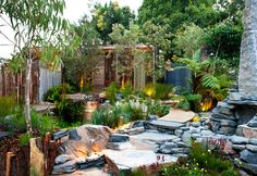 Love this garden. So peaceful & tranquil. This 'Equilibrium' garden won a gold medal at MIFGS. Designer Phillip Johnson has been selected to create an Australian Garden for London's Chelsea Flower Show Garden Show, Dream Garden, Garden Art, Australian Garden Design, Australian Native Garden, Tropical Landscaping, Backyard Landscaping, Chelsea Flower Show, Native Plants