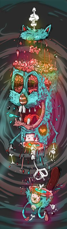 Ideas For Wall Paper Iphone Art Illustrations Behance Illustration Main, Amoled Wallpapers, Dope Art, Weird Art, Psychedelic Art, Illustrations And Posters, Photomontage, Trippy, Les Oeuvres