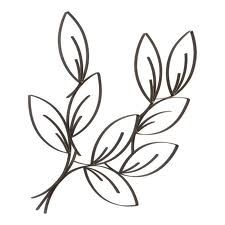 easy to draw leaves later to be watercolored