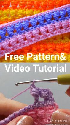 Crochet Stitches Free, Crochet Blanket Patterns, Easy Crochet, Free Crochet, Stitch Patterns, Knitting Patterns, Knit Crochet, Crochet Instructions, Tutorial Crochet