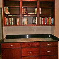 """""""Holiday"""" cabinetry. Never enough book shelves.  #kitchens"""