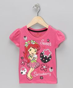 Take a look at this Pink Strawberry Shortcake Cap-Sleeve Tee - Toddler & Girls on zulily today!