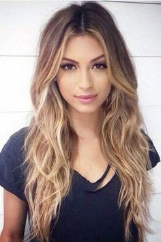 center parted ombre hairstyle for girls