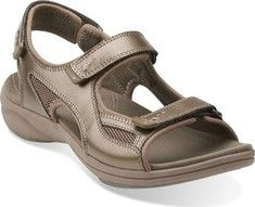 Clarks InMotion Thorn Sandal - Pewter Leather with FREE Shipping & Exchanges. *****