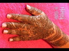 Intricate Indian Bridal Mehndi - Henna Video - YouTube