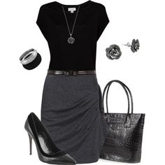 A fashion look from November 2012 featuring Michael Kors skirts, Fendi pumps and O.S.P Osprey tote bags. Browse and shop related looks.