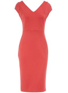 Cute coral dress for spring!