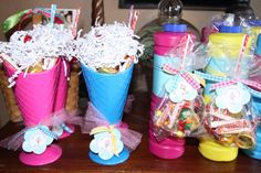 Ice cream favors, in cups from dollar store or walmart!