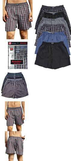 567f292dd6a1 Mens Clothing 1059: 6 Mens Plaid Boxer Shorts Lot New Underwear Pairs Pack  Small Medium