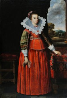 Portrait of a lady by Peter Danckerts de Rij, ca 1640 (PD-art/old), Muzeum Narodowe w Gdańsku (MNG)