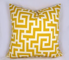 Yellow Maze  Decorative Pillow Cushion Covers  Accent by kLuxdeco, $23.00