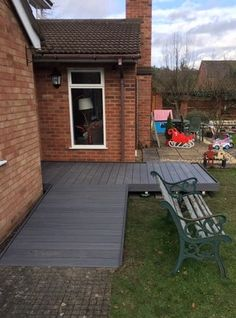 Porch And Balcony, Porch With Ramp, Ramp Design, Concrete Path, Decking Area, Timber Door, Back Patio, Folder Games, File Folder