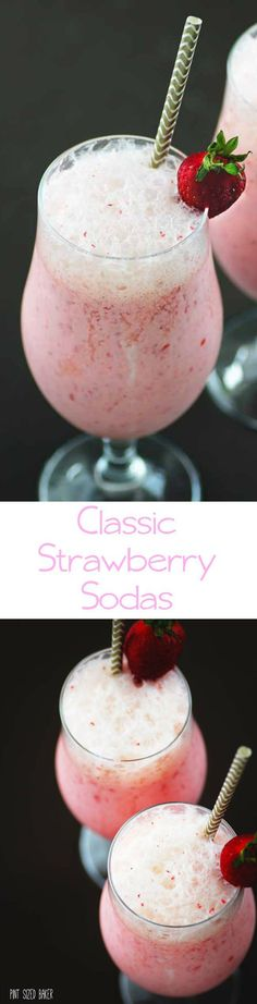 Cool and refreshing! Bring back the good old days with this easy Old Fashioned Strawberry Soda. Made with real strawberries and soda.