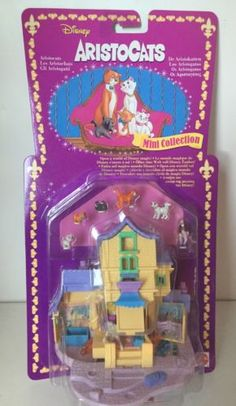 1996 Polly Pocket Disney The Aristocats - Scat Cat Pad - Bluebird/Mattel - Tiny Collection