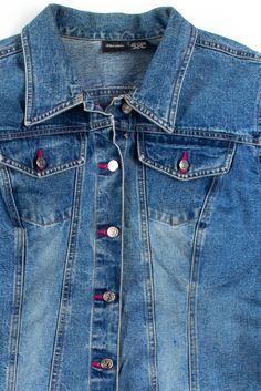 Denim Jackets, Vintage Denim, Vintage Outfits, Sleeves, Pants, Clothes, Style, Fashion, Trouser Pants