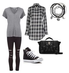 """casual"" by haley-abernethy on Polyvore featuring New Look, Helmut Lang, Fred Perry and Converse"
