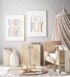 Sisters Make The Best Friends Nursery Print Girls Room | Etsy Playroom Decor, Nursery Decor, Playroom Ideas, Playroom Printables, Alphabet Print, Alphabet And Numbers, Nursery Prints, Nursery Artwork, Art Education