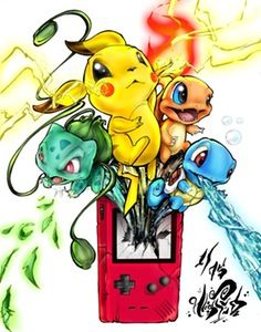 """Image of Limited Edition """"Pokemon Gameboy"""" 11x14in Print"""