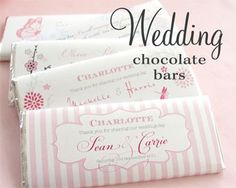 Custom Chocolate Bar Wrappers Engagement Party Ideas For