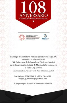 INVITACION EVENTO IMCP RIVIERA MAYA-ANAFINET MAYO 2015