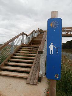 Example of bicycle push ramp signage