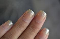 Spark & Chemistry - Gold Glitter Tipped Nails