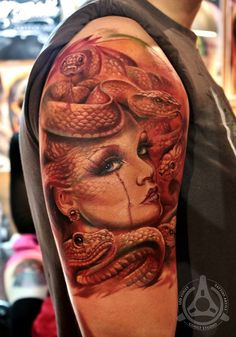 _ medusa tattoo by led coult _