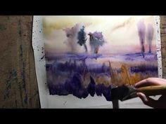 Watercolor demo, wet on wet
