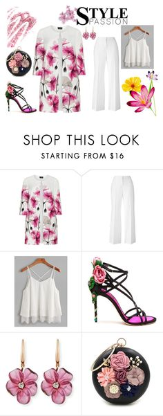 """""""Bez naslova #22"""" by amelito ❤ liked on Polyvore featuring Hermann Lange, Dolce&Gabbana, Rina Limor, WithChic and Obsessive Compulsive Cosmetics"""