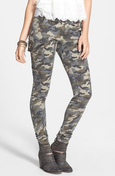 Moto meets cargo | Cargo Pocket Skinny Pants