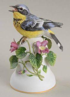 Magnolia Warbler - Franklin MintBird Bells-Porcelain at Replacements, Ltd
