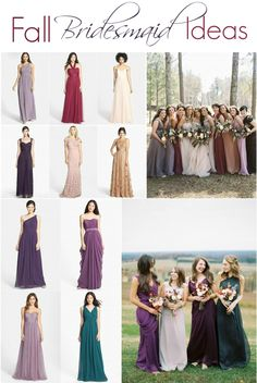 My favorite mismatched bridesmaid dresses for fall weddings! Click to see them all. https://www.thebridelink.com/blog/2014/08/15/mismatched-bridesmaid-dress-ideas-for-fall-weddings/