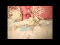 Altered Shabby Chic Victorian Decorative Hangers hand made By Zsuzsanna