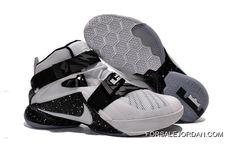 buy online f935d e6f64 Nike LeBron Soldier 9 White Black Basketball Shoe Super Deals