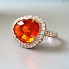 Say hello to our latest #fireopal #diamond ring!