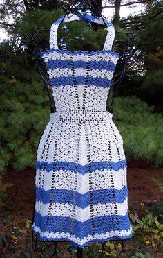 Vintage Crochet Apron Collectors Closet / by ArtisticNeedleWork, $17.00