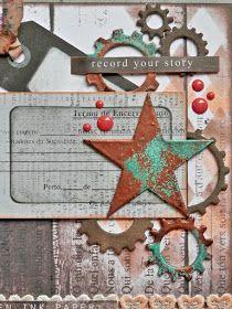 álbum creado con papeles 7 Dots Studio para la galería de inspiración de Scrap para ti