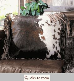 Cowhide with fringe