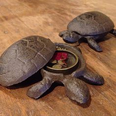 Cast Iron Turtle Free with large order by HerMadeUpWorld on Etsy