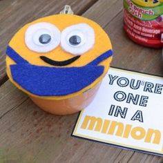 """Kids will love these """"one in a minion"""" snacks, complete with a keepsake felt minion craft."""