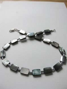 Paua shell and haematite necklace. SOLD
