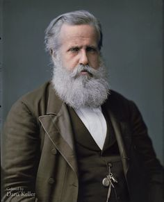 Dom Pedro II, the last Emperor of Brazil, 1876 colored photo