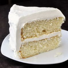 White Velvet Cake - Rock Recipes - developed from an outstanding Red Velvet Cake recipe, this white cake is a perfectly moist and tender crumbed cake that would make an ideal birthday cake. Rock Recipes, Sweet Recipes, Easy Recipes, White Velvet Cakes, Red Velvet, Just Desserts, Dessert Recipes, Frosting Recipes, Homemade Desserts