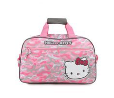 Check out Hello Kitty Kids Overnight Bag: Pink Camo from Sanrio