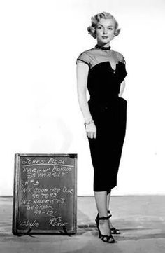 """Marilyn in a costume test for """"As Young as You Feel"""", 1951."""