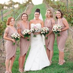 Our beautiful bride @jaimieben and her bridesmaids. #bridesmaids wearing our…