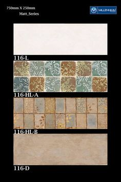 Matt Wall Tile Design 116 - Millennium #Tiles 250x750mm (10x30) Ceramic Matt Azulejo #Design #WallTiles Series  - 116_L - 116_HL-A - 116_HL-B - 116_D  - Azulejo: The Art of Portuguese Ceramic Tiles. Tiles (called #azulejos ) are everywhere in Portugal. They decorate everything from walls of churches and monasteries, to palaces, ordinary houses, park seats, fountains, shops, and railway stations. They often portray scenes from the history of the country, show its most ravishing sights.