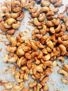 honey mustard roasted cashews / joy the baker
